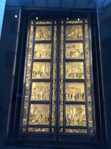 North Doors by Ghiberti, Florence Baptistry, Florence,Italy, c. 1404-24.