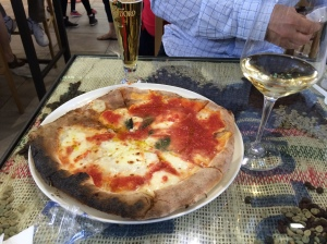 Oven baked pizza at the Mercato Centrale Nuovo